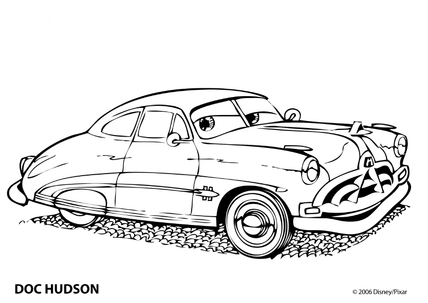 Cars Dibujos para Colorear - DisneyDibujos.com