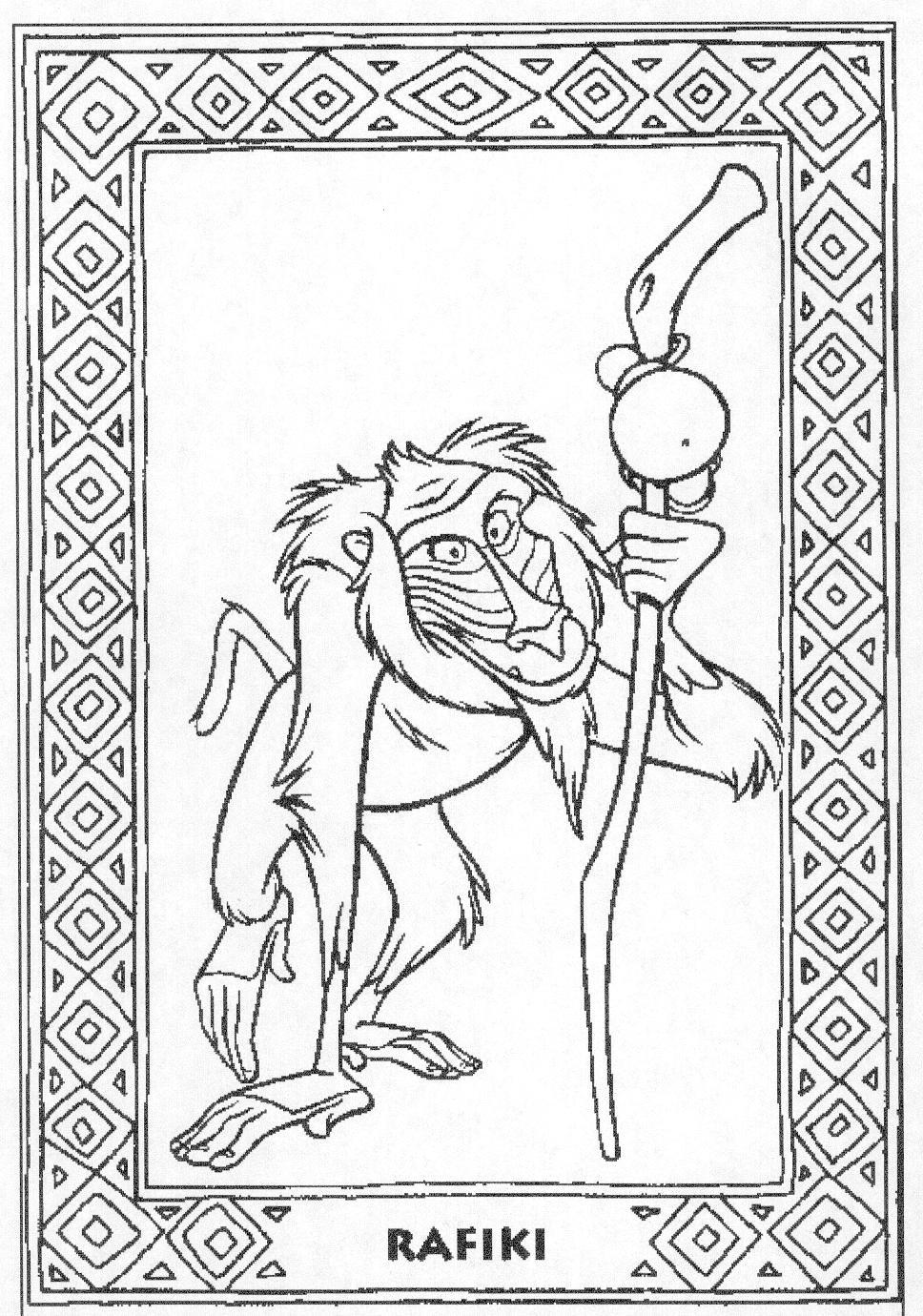 El rey leon Dibujos para Colorear - DisneyDibujos.com