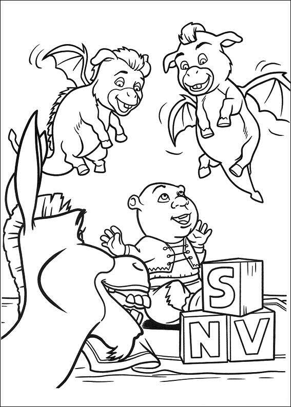 Shrek 4 Dibujos para Colorear - DisneyDibujos.com